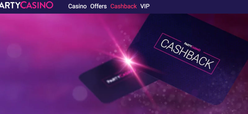 party casino cash back promotion